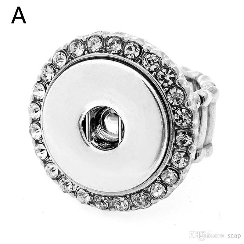 NEW Snap Charm adjustable flower ring fit 12mm snap charms US SELLER*