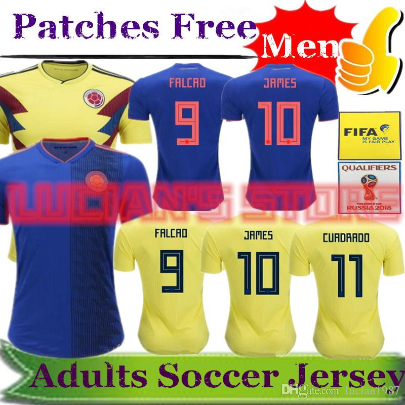 2018 World Cup COLOMBIA Jersey Top Thailand National JAMES Soccer ... fee6fe503