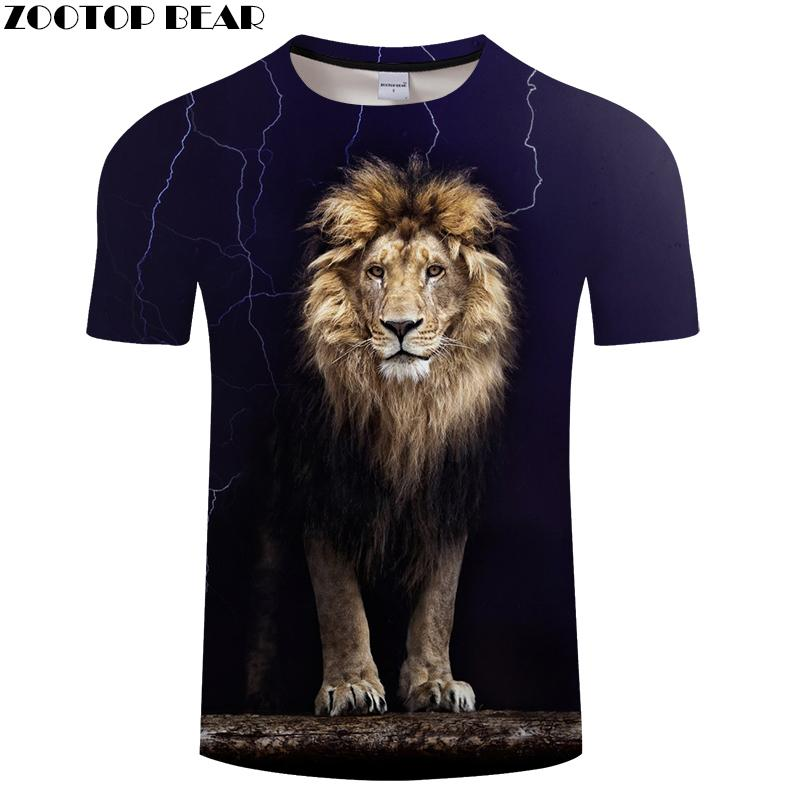 b2fb61c81882 Lion 3D Animal Tshirts Men T Shirt Casual T Shirt Funny Tee Summer Top  Short Sleeve Camiseta Streatwear 2018 DropShip ZOOTOPBEAR Printed T Shirts  Funny T ...