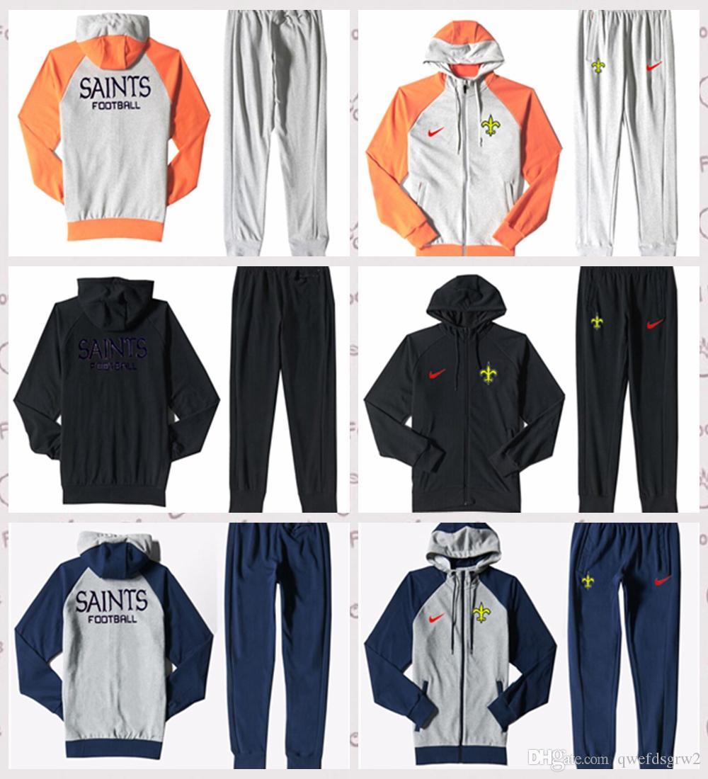 edd9d5ff1e2 New Orleans Sains Autumn Men S Print Full Zip Sportswear Men S Sport Suit  Bodysuit Plus Pantsuit Three Colors New Orleans Sains Printed Galleon  Hooded ...