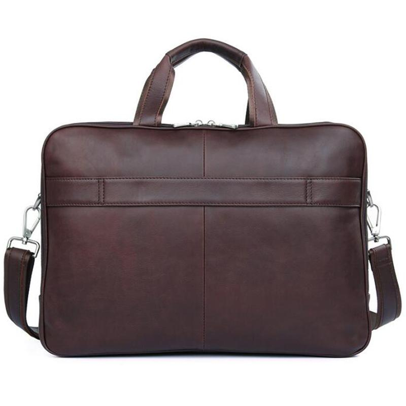 01d36b75b509 Wholesale LEXEB Cow Leather Lawyer Briefcases Solid Men S 17.3 Inches  Laptop Bag Big Vintage Business Travel Bags 44cm Length Brown Brown Leather  Briefcase ...