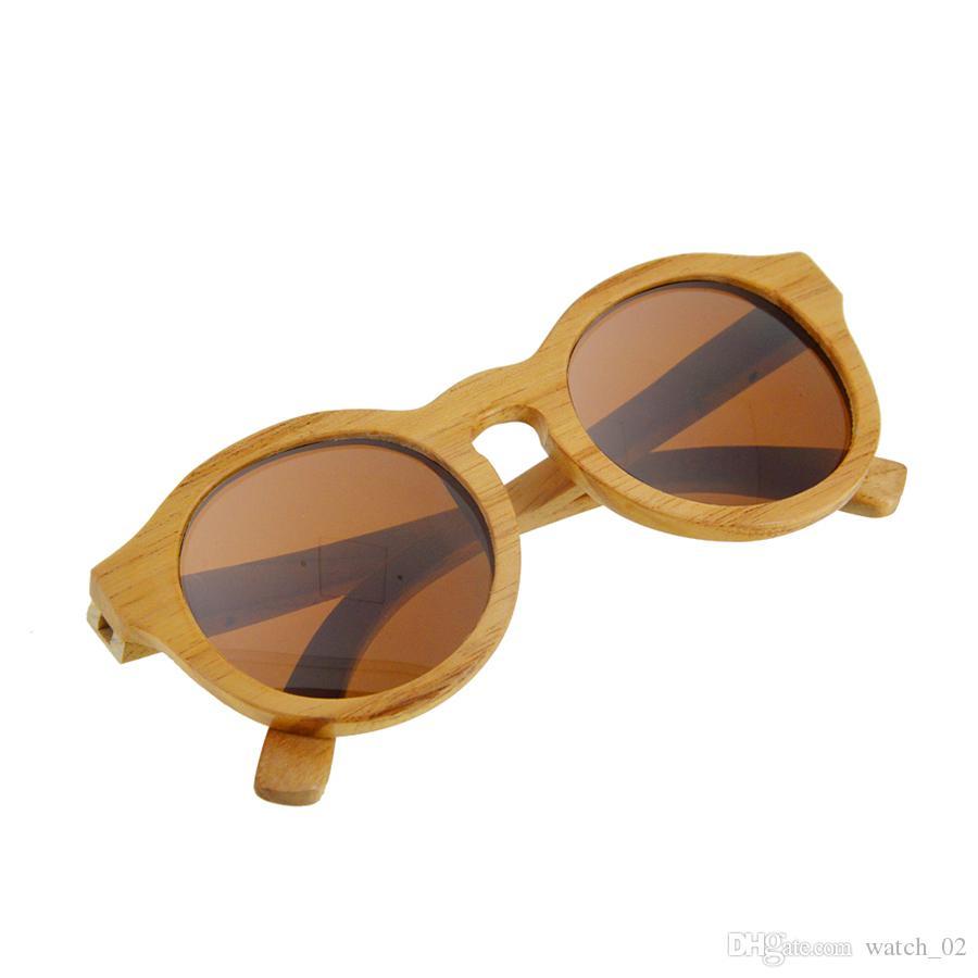 2924dbea5 Compre BEDATE G011A Óculos De Sol De Madeira Polarizada, Óculos De Sol De  Armação De Madeira Com Lentes Polarizadas De Bloqueio UV | / Frete Grátis  ...