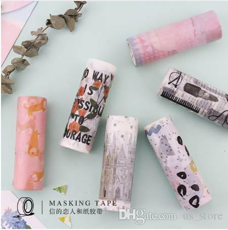 10cm*5m Shiba Inu dog Life Washi Tape Travel diary Adhesive Tape DIY Scrapbooking Sticker Label Masking Tape 2016