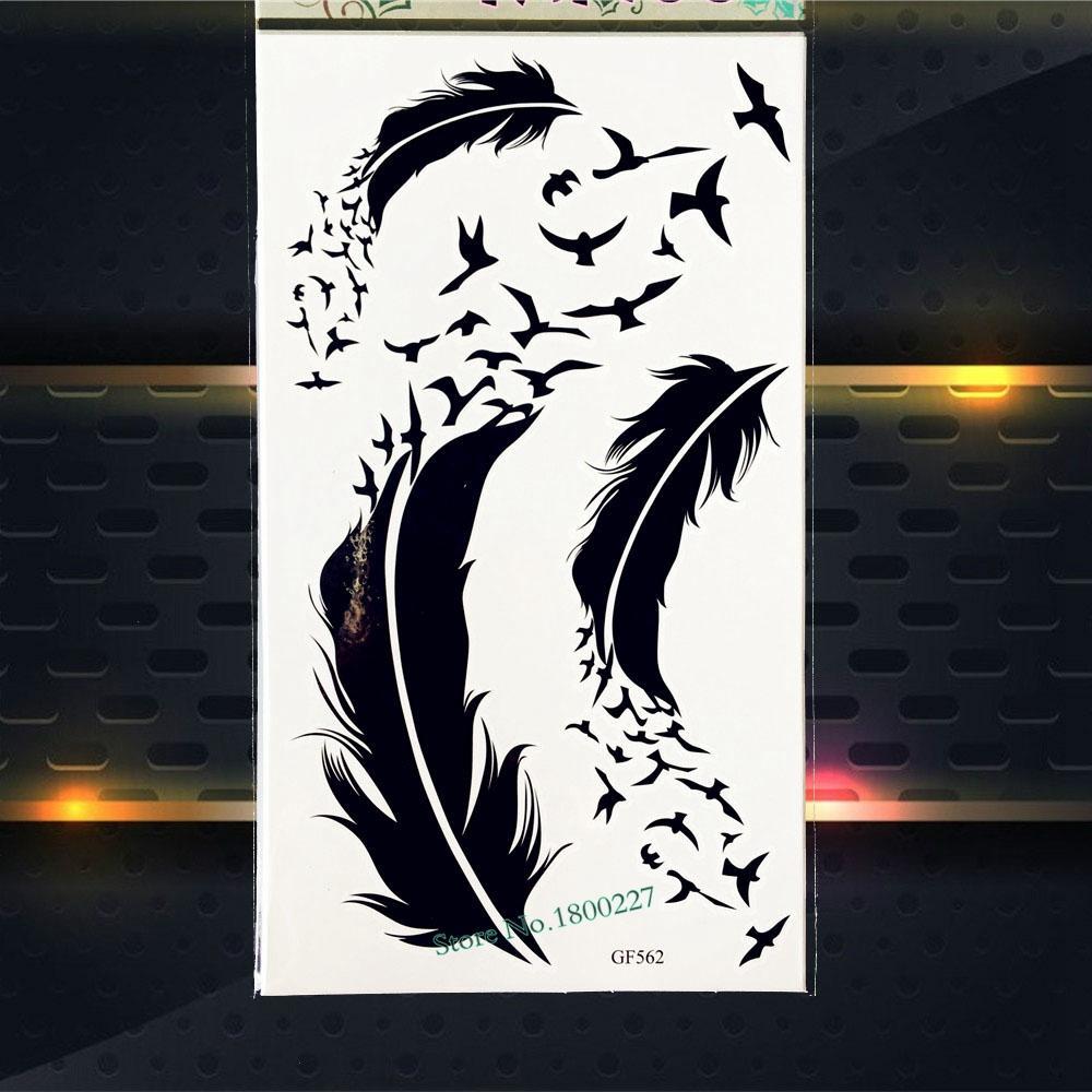 Taiji Yinyang Temporary Tattoo Dragon Waterproof Fake Flash Tattoo Body Art ARm PGF401 Fake Flash Henna Tattoo Women Men Armband