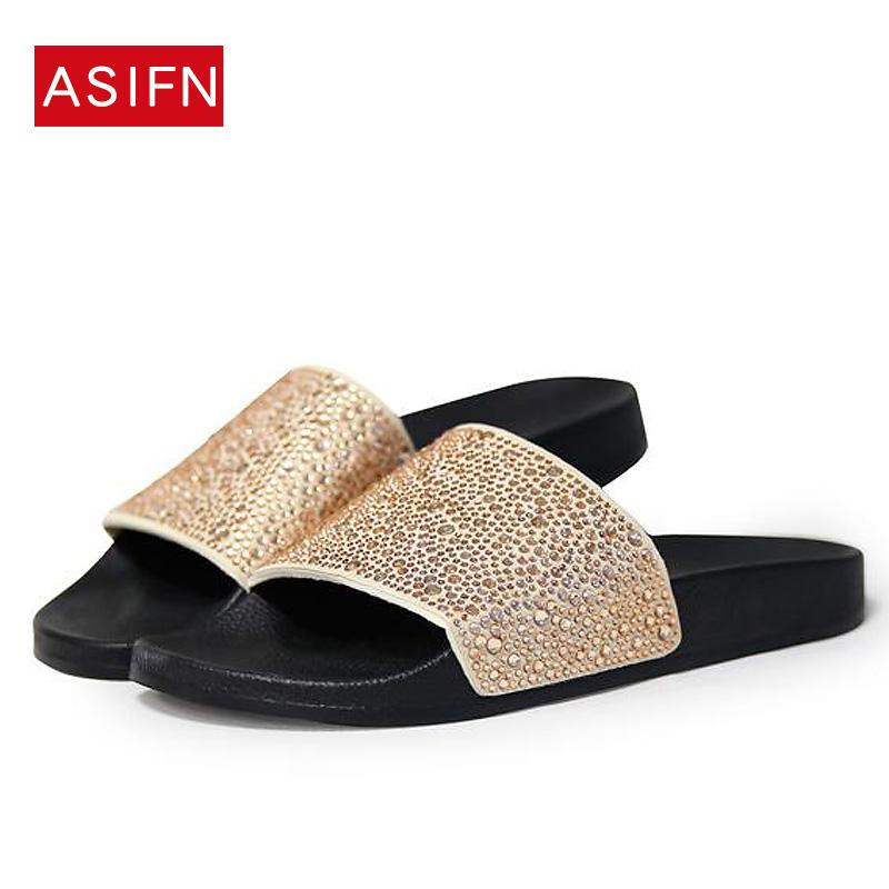 2018 Women Slippers Summer Slides Diamond Bling Glitter Slides Flip Flops  Beach Sandals Sliver Gold Women Shoes Dropshipping Buy Shoes Online Wedge  Boots ... f77e0326c2a0