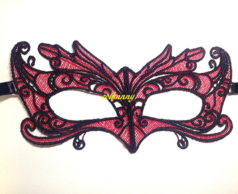 100pcs/lot Halloween Red Fox Soft Lace Mask Party Ball mask Carnaval Masquerade sexy Lady masks