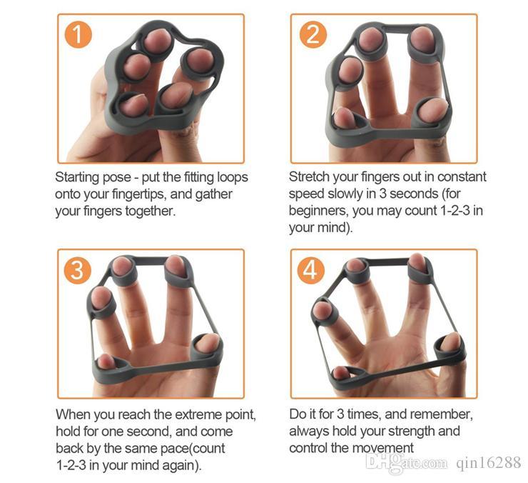 물리 치료 크로스 피팅 러버 핑거 보행 트레이너 들것 가죽 Strengthener 운동 장비 기계 손 그립 더 강해지십시오