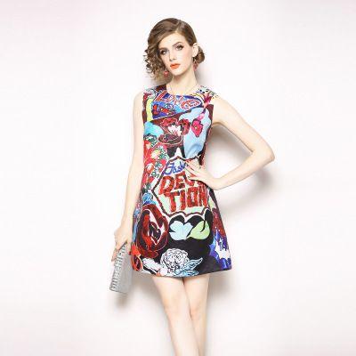 950a8b8b3a1 Plus Size S-3XL Women s Beauty Printing Short Dress