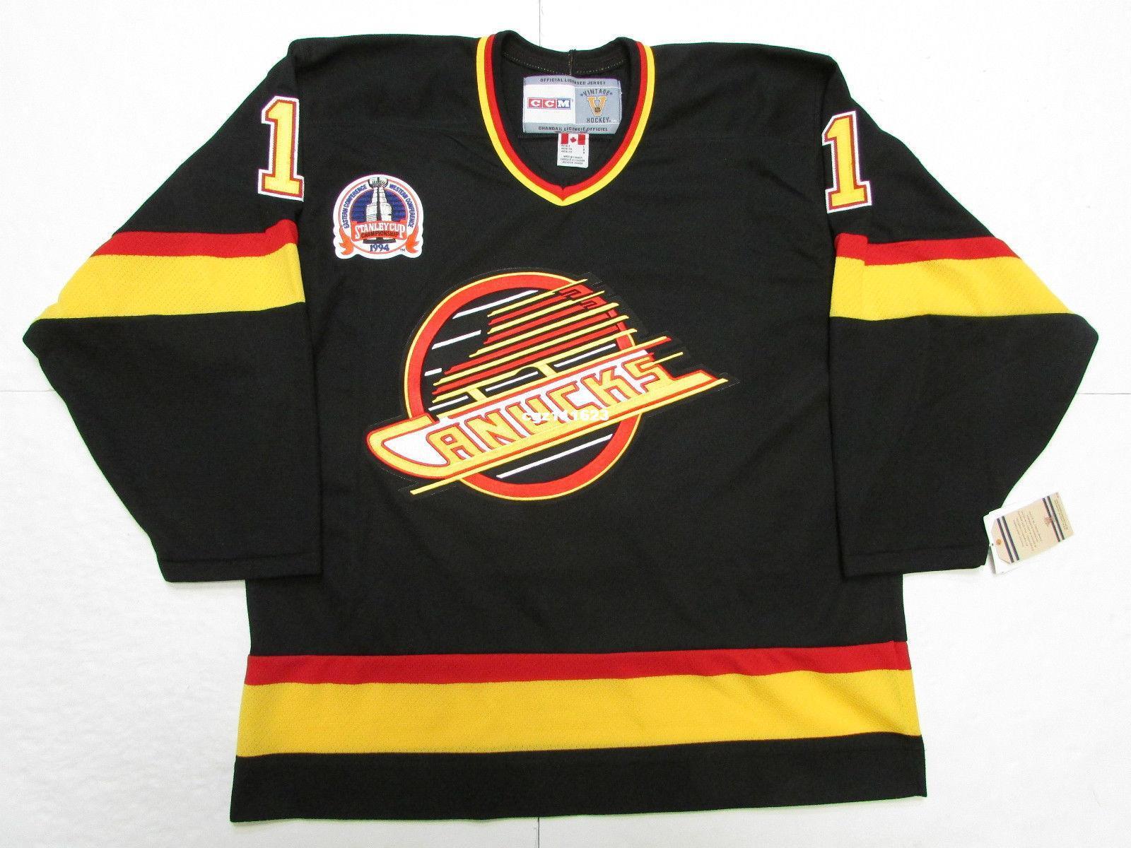 44aec11da ... cheap custom mclean vancouver canucks 1994 stanley cup vintage ccm nhl  hockey jersey black throwback jerseys