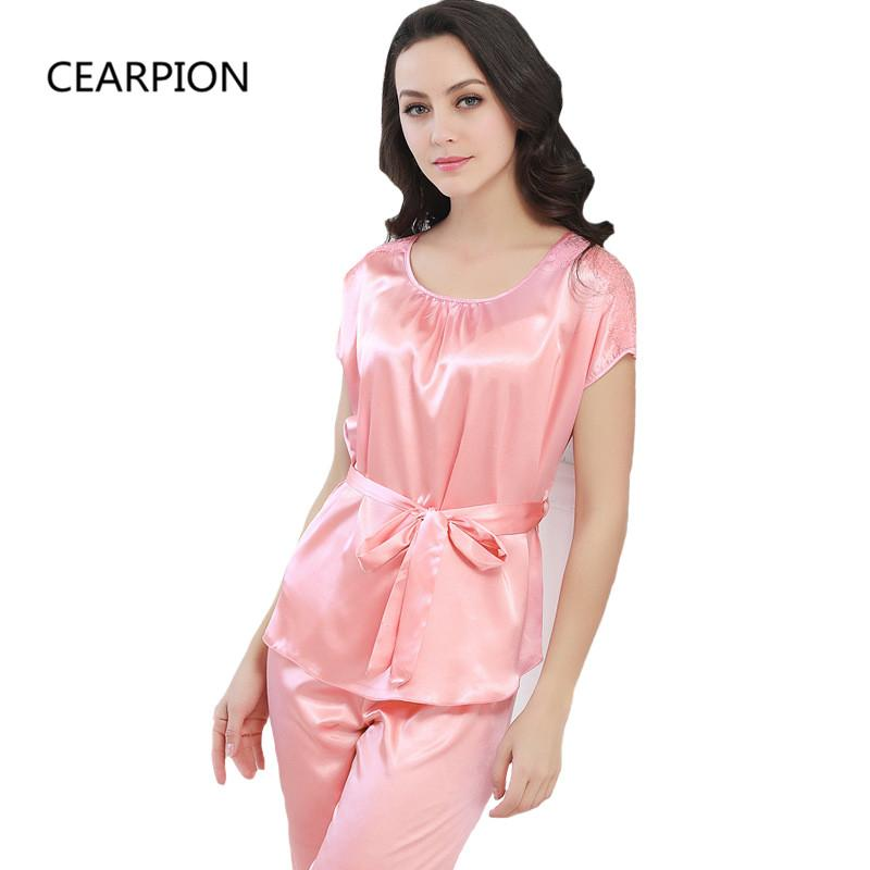 2019 Wholesale New Pajamas Set Women Rayon Shirt Amp Shorts Casual Home Clothes  Lace Sexy Nightwear Solid Color Pyjamas Suit Negligee From Luzhenbao521 3c5ab77ea