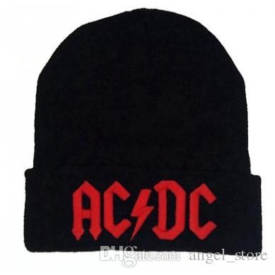 Compre Hombres Mujeres Invierno Cálido Beanie Hat Rock ACDC AC   DC Banda  De Rock Cálido Invierno Gorros De Punto Suave Gorra Sombrero Para Adultos  Hombres ... 81a915ef3ba