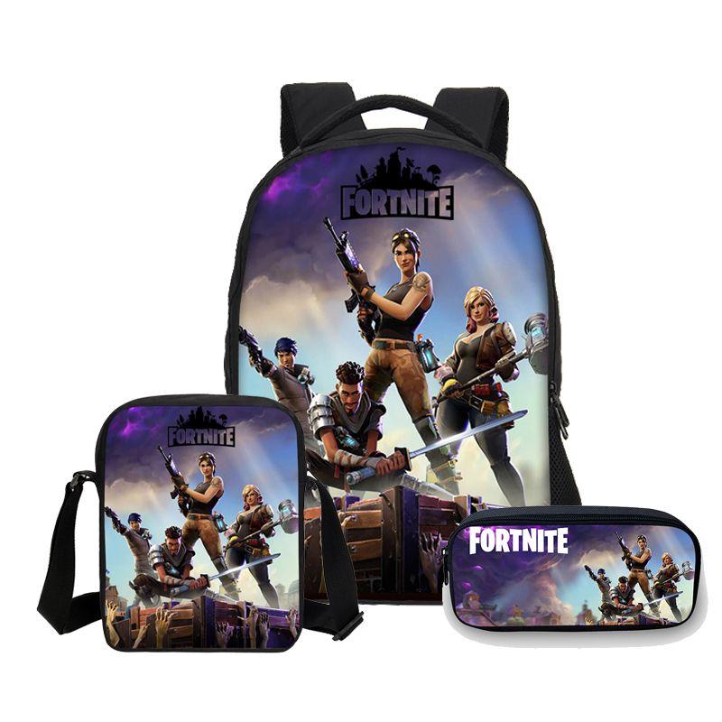a3955bee0a VEEVANV Anime Fortnite Battle Royale Print Backpacks Pencil Case School  Bagpack For Kids Boys Shoulder Bags Mochilas School Bags For Girls Backpacks  For ...