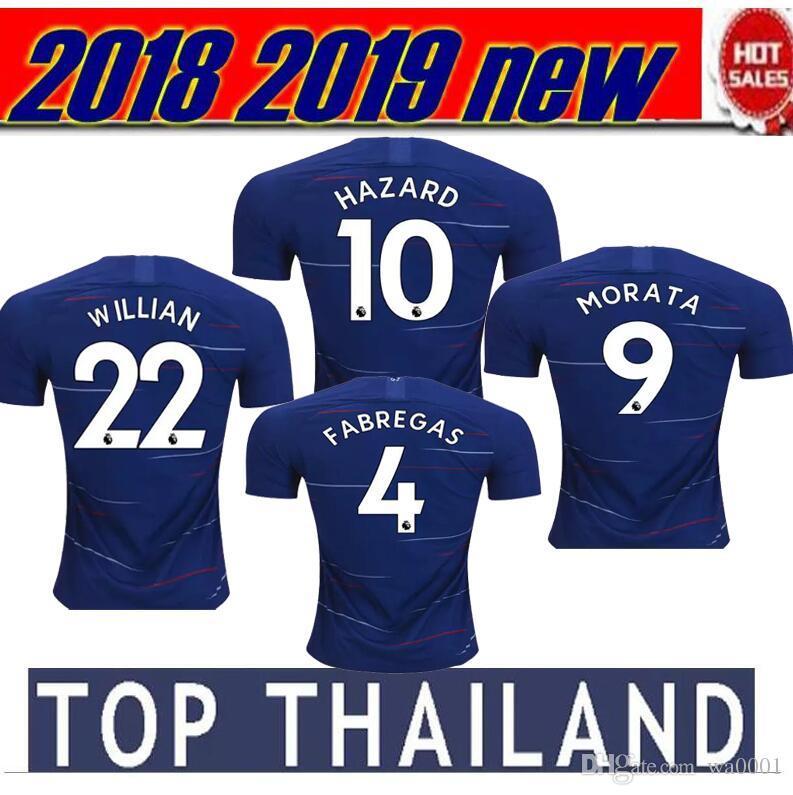 d8605cf588 2018 2019 MORATA Chelsea Soccer Jersey Hazard BAKAYOKO RUDIGER ...