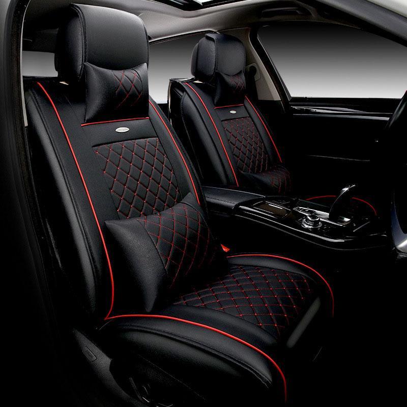 Genuine Leather Car Seat Cover For Lada Granta Kia Rio VW Polo Cruze Cushion Interior Replacement Auto Cushions
