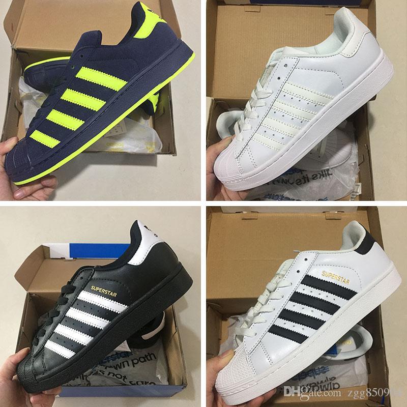 on sale 766ae fe5a5 Compre De Calidad Superior Superstar Blanco Holograma Iridescent Junior  Adidas Originals Superstar W Zapatillas Clásico 80s Pride Sneakers Super  Star ...