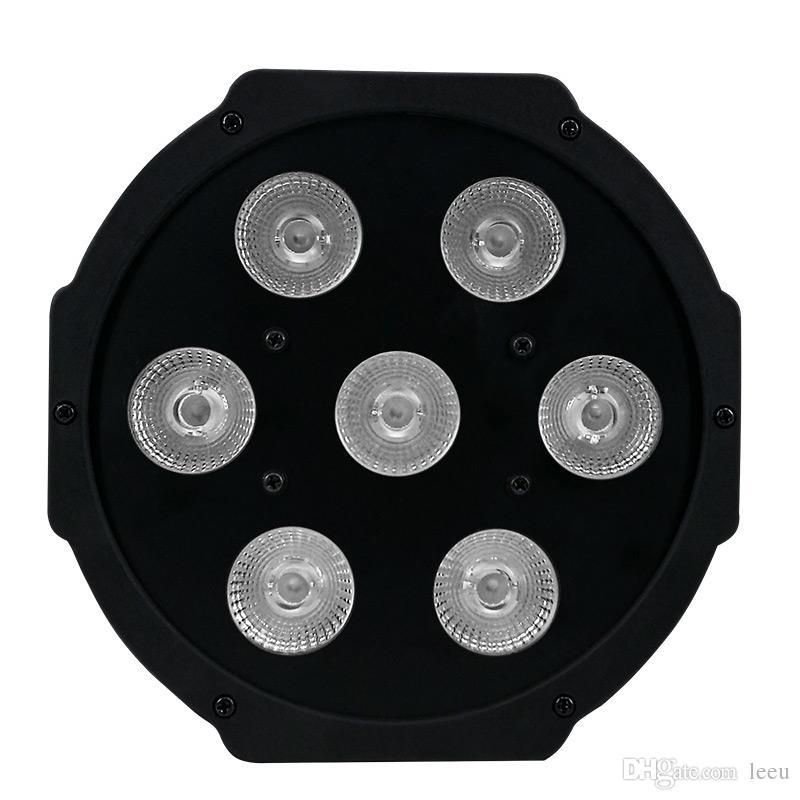 Controle remoto sem fio LED Mini PAR luz 7X12 W DMX rgbw 4em1 quad levou plana par pode encenar iluminação