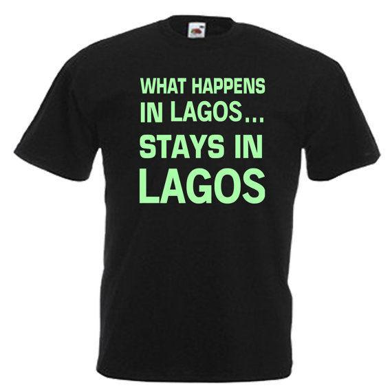 a2da4904944 Lagos Glow In The Dark Mens Adults T Shirt Humor Tees Funny Tee From  Moonprinted