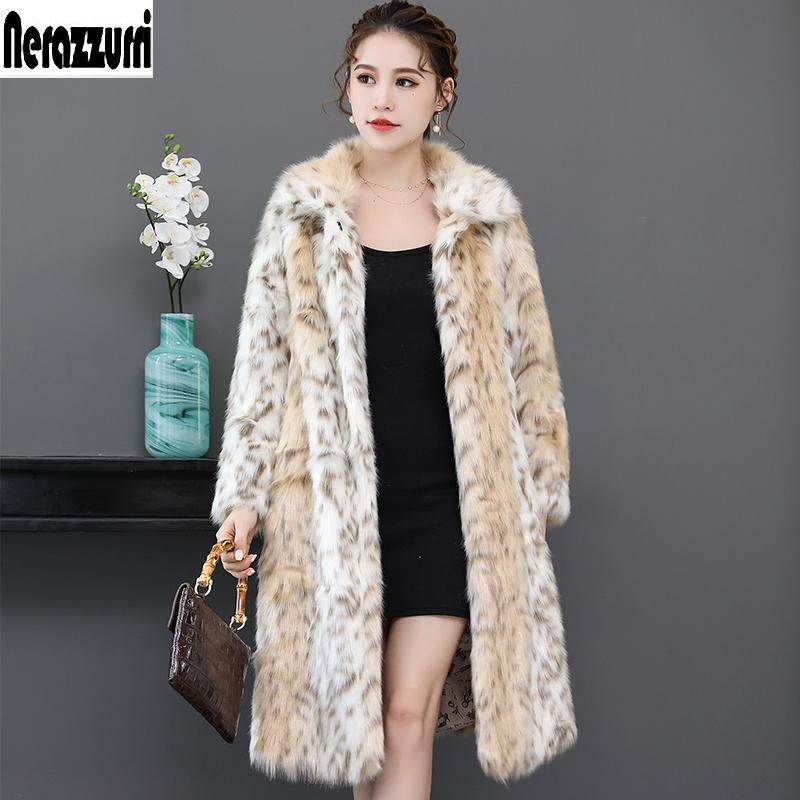 3f3243b10a 2019 Nerazzurri Long Leopard Faux Fur Coat For Woman Raglan Sleeve Winter Fake  Fur Coat Fluffy Leopard Print Jacket Big Size 5xl 6xl C18111501 From  Shen8407 ...