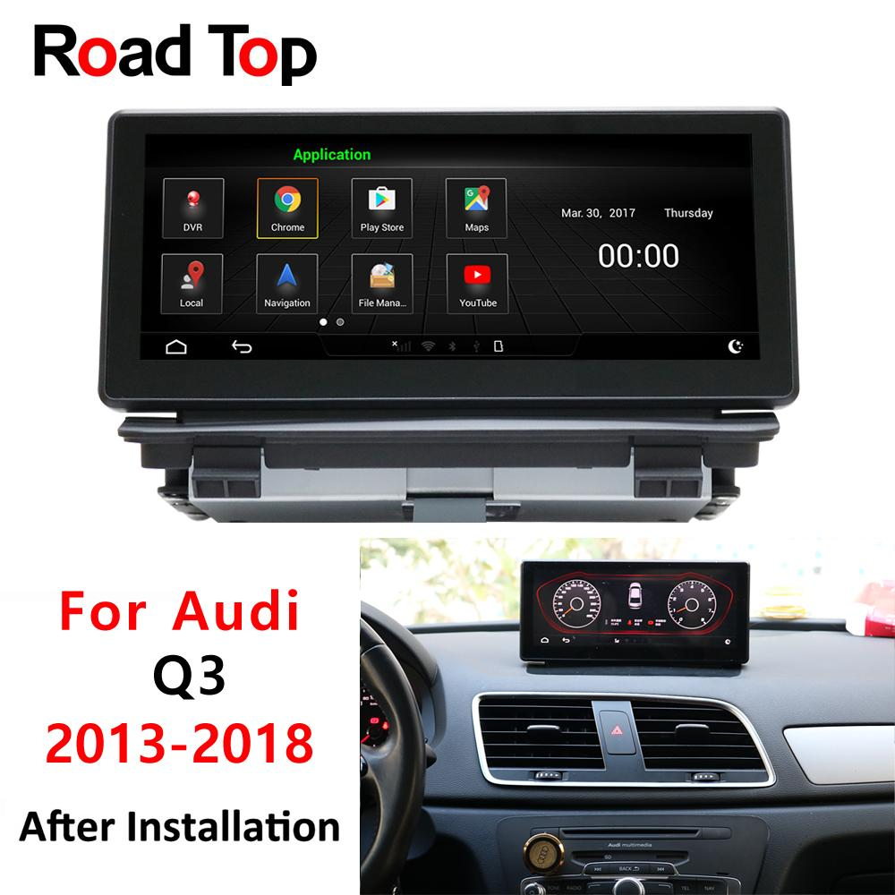 8 8 Android 5 Sedan display for Audi Q3 2013-2018 LHD car touch screen GPS  Navigation radio stereo dash multimedia player WiFi