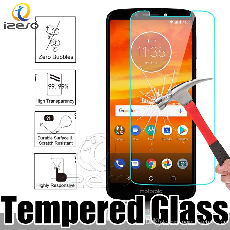 new style bbcc6 4ace7 For MOTO E5 Cruise Supra Play Tempered Glass Screen Protector for Alcatel  Verse LG X Charge 2.5D Front Film with Retail Packaging