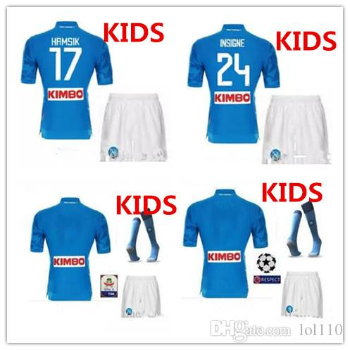 30d391fdc 2019 Adult And Kids 18 19 Napoli Soccer Jersey Home 2018 2019 Naples  ZIELINSKI HAMSIK INSIGNE MERTENS CALLEJON PLAYER ROG Football Shirts From  Lol110