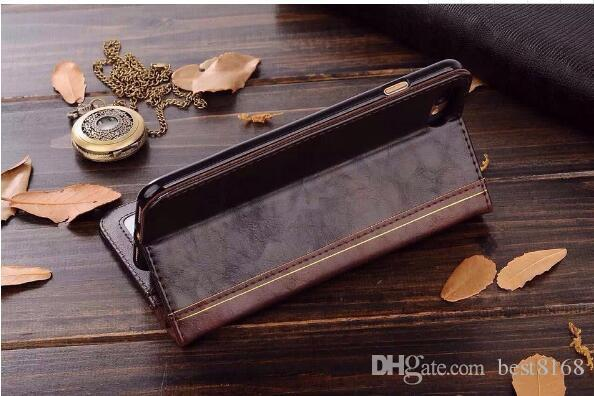 Retro Ancient Vintage Old Flip Book Style Leather Wallet Case For Iphone XR XS MAX 6.1 6.5 X 6 5 5S SE Galaxy Note 9 S9 S8 Plus Pouch Holder