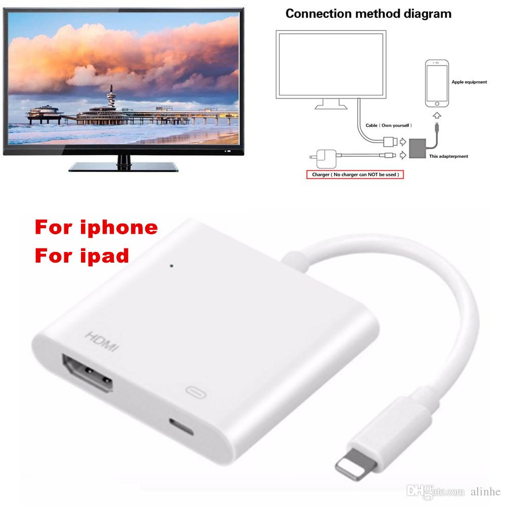 Lighting To Hdmi Digital Av Adapter Cable For Iphone Lightning Hd Ipod Charger Wiring Diagram Tv Audio Video Hdtv Converter X 6s Ipad Free Ship Micro Usb