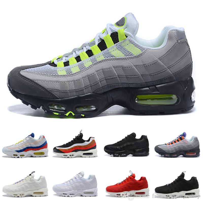 OG Neon 95 Outdoor Running Shoes Men Women 95s TT Red White Black Red Triple  White Black Athletic Sports Sneakers US 5.5 12 Running Trainers Men Sports  ... d01aa8aa5