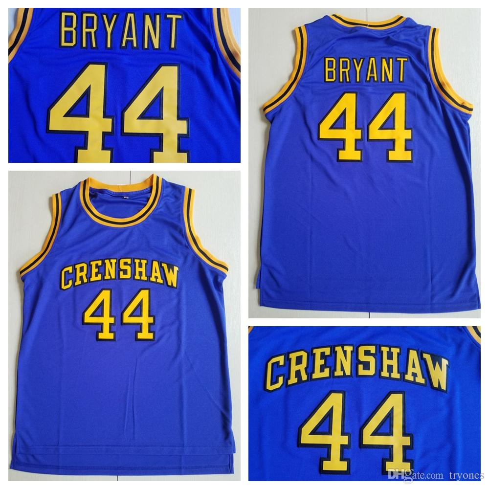 new style e97be 1be26 Mens Hightower Crenshaw 44 Kobe Bryant High School Basketball Jersey Cheap  LOVE Moive Stitched Basketball Shirts