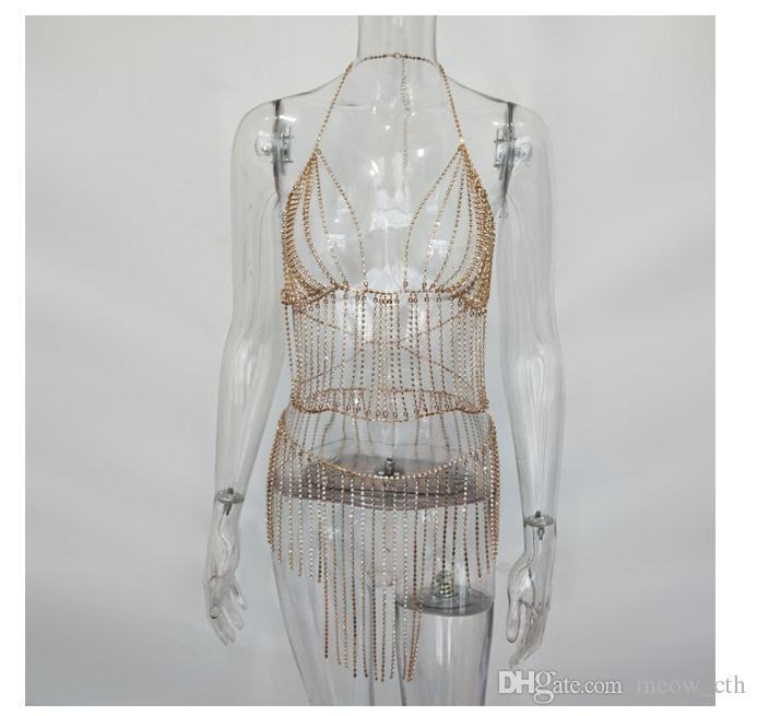 2018 nuove donne vestono Sexy notte negozio lucido mattone vestito tutto-fiammifero elastico imbracatura bling top gonne conjoined Summer Fashion dress