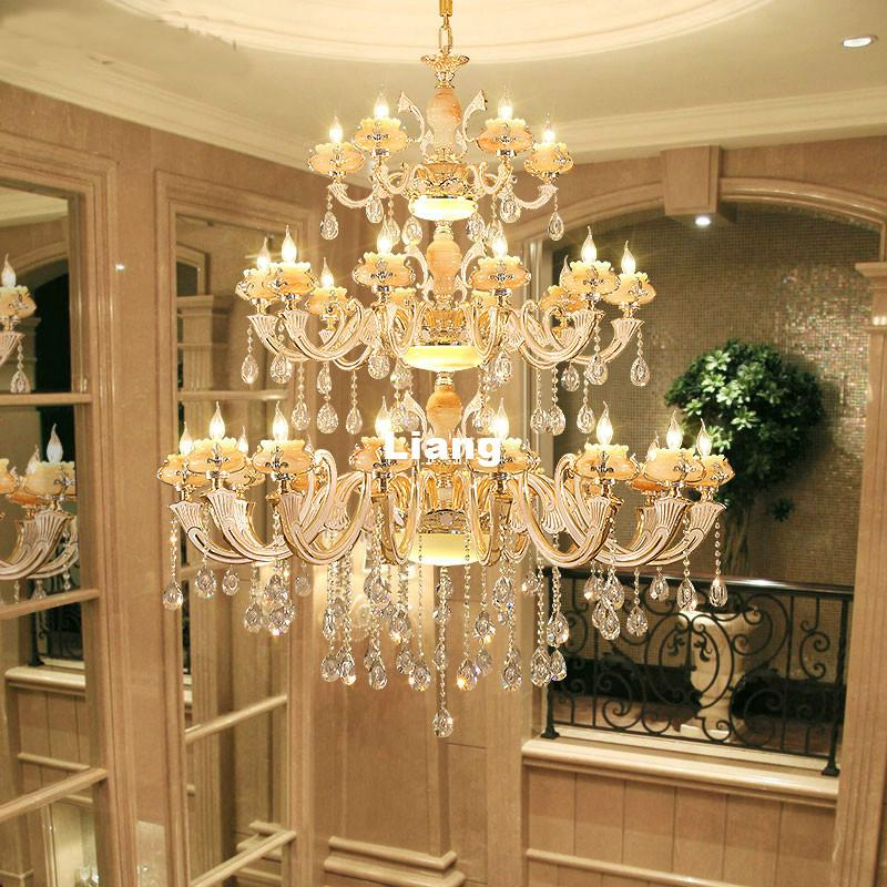 Europena Crystal Chandelier Luxury Living Room Decoration Lamp Dining Modern LED E14 Chandeliers Hanging Light Outdoor