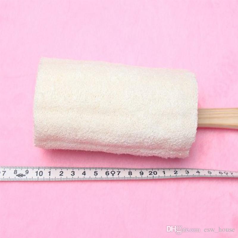 Uzun tutucu doğal lif kabağı duş banyo fırçaları güçlü lif kabağı temiz fırça Çevre Dostu banyo aracı kolay temizlenir Ücretsiz kargo