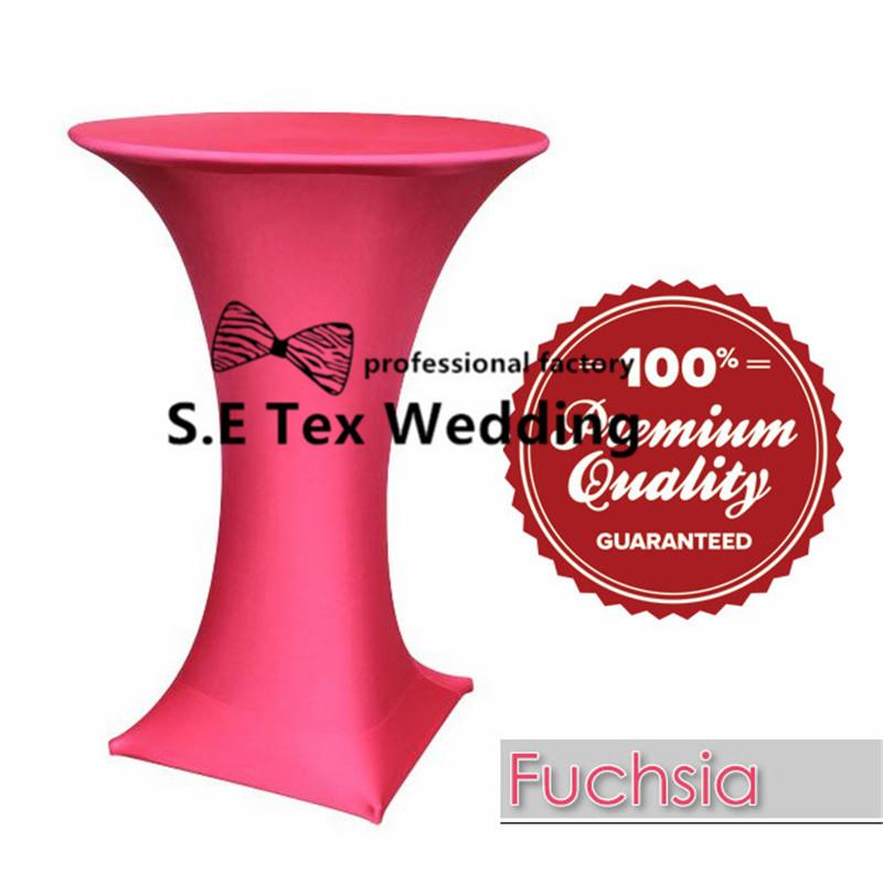 Copertura della Tabella di cocktail di Lycra Spandex del lotto \ tovaglia di cerimonia nuziale la decorazione di evento del partito Trasporto libero