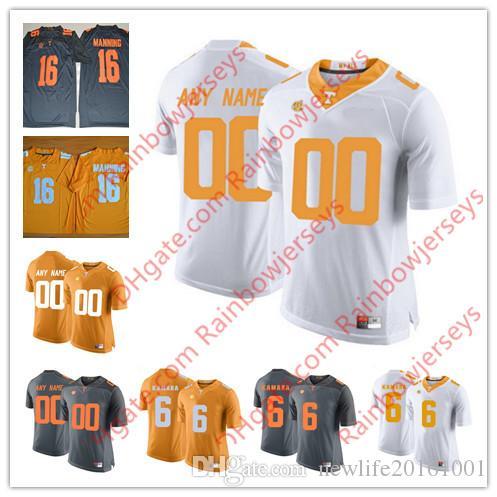 b19385880 NCAA Custom Tennessee Volunteers 6 Alvin Kamara 1 Jalen Hurd 16 ...