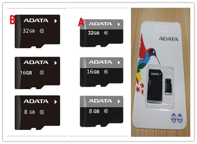 Real ADATA 2GB 4GB 8GB 16GB 32GB 64GB Class10 Micro SD TF Memory Card SD Adapter Retail Package