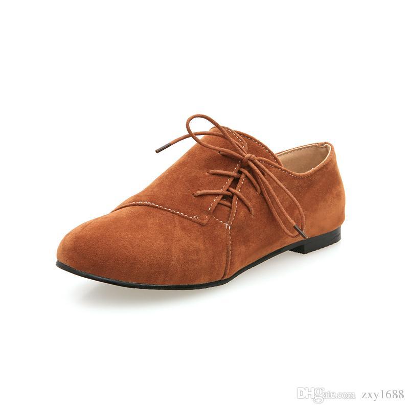 605b7b5d Compre Bl Fb 5 Primavera Y Otoño Ropa Casual Con Cabeza Redonda Y Gamuza,  Zapatos Cómodos De Las Señoras A $17.86 Del Zxy1688 | Dhgate.Com