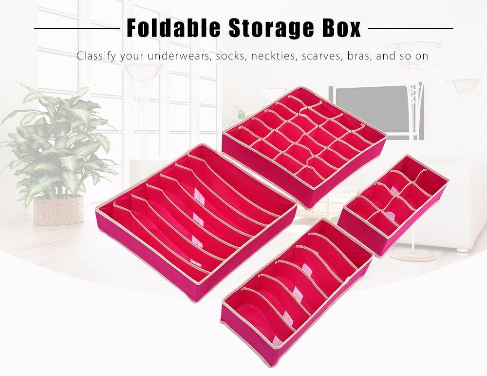 Hot Sale Underwear Bra Organizer Storage Box Beige/Rose Drawer Closet Organizers Boxes For Underwear Scarf Socks Bra