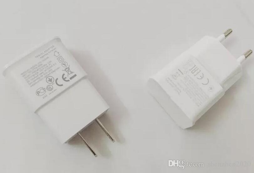 Universal 5V 2A 2 in 1 EU US-Stecker Reiseadapter Ladegerät Micro 2.0 USB-Ladekabel für Samsung HTC Android Handy Freies DHL