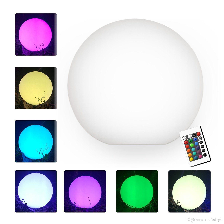 es RGB LED Bola Mágica Flotante Led iluminado Piscina de la Bola Luz de la Luz IP68 Muebles de Barras Al Aire Libre Bar Lámparas de Mesa con control remoto