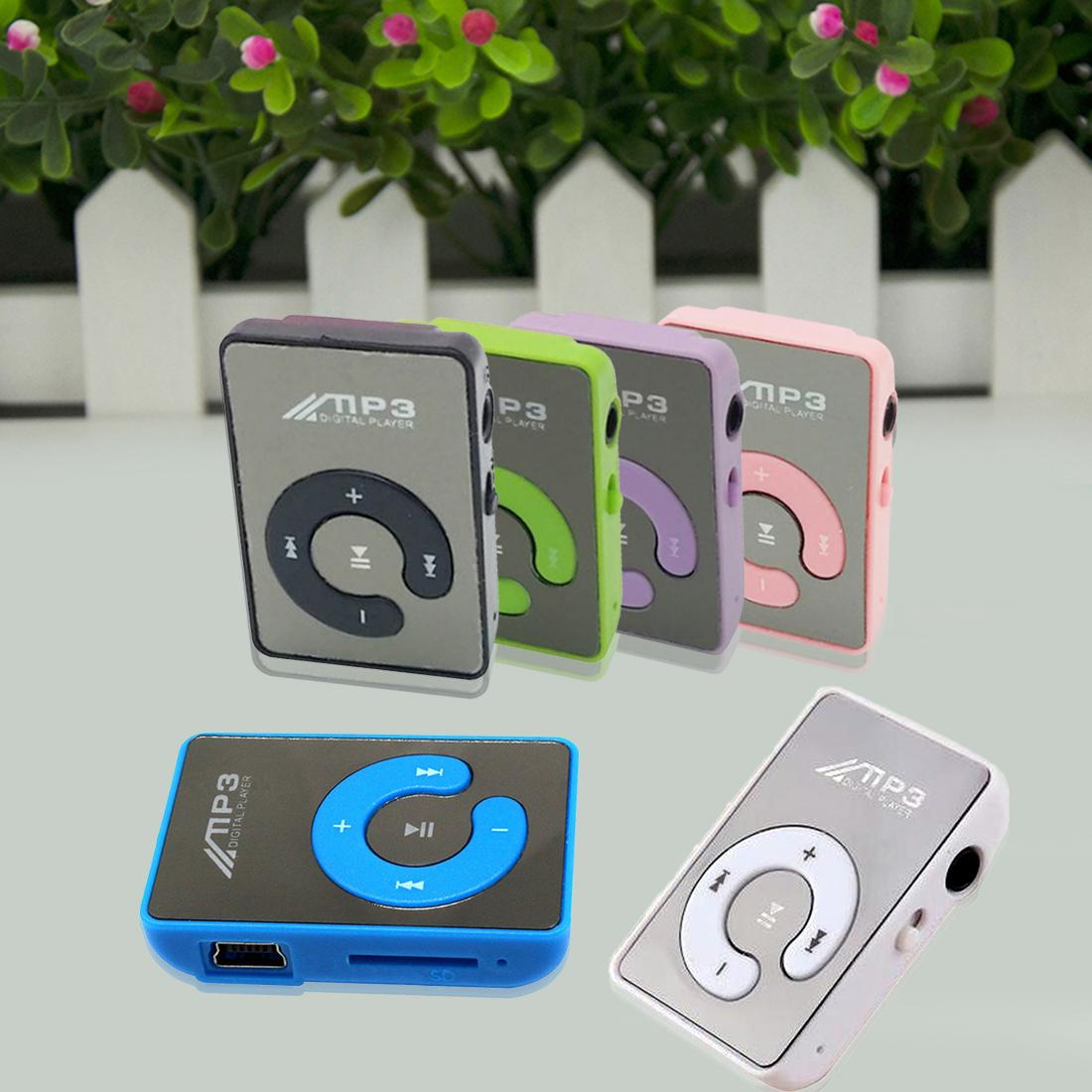 New Mini Mirror No Screen MP3 Clip Plugin Card Smart Music Player Portable  Sports Leisure Perfect Sound MP3 Player Memory Play