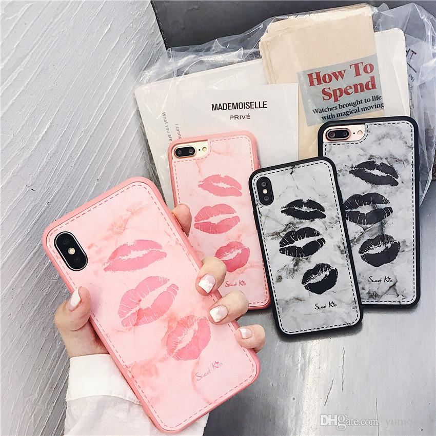 8998fc368b Phone Case For IPhone X 8 7 6 6s Plus Cartoon Lovely Love Heart Pink Letter  Couples Back Cover Cases For IPhone X Coque Cell Phone Pouches Customized  Cell ...