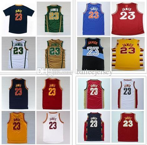 Top Quality Mens 23 Lebron James Basketball Jersey Stitched 23 James ... 1801105e6