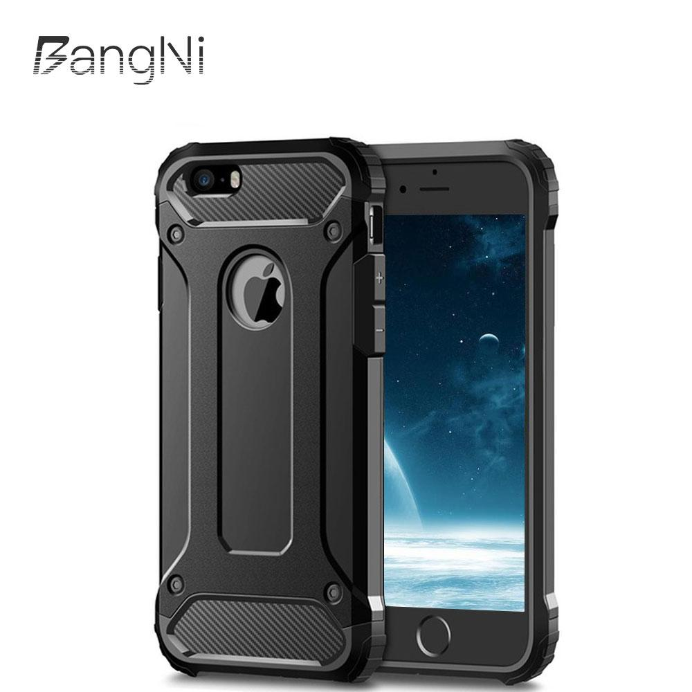 reputable site 47df1 79d05 Bangni Strong Hybrid Tough Shockproof Armor Phone Back Case iPhone X XR 5S  SE 6S Plus 8 7 XS MAX 9 Hybrid Hard PC TPU 2in1