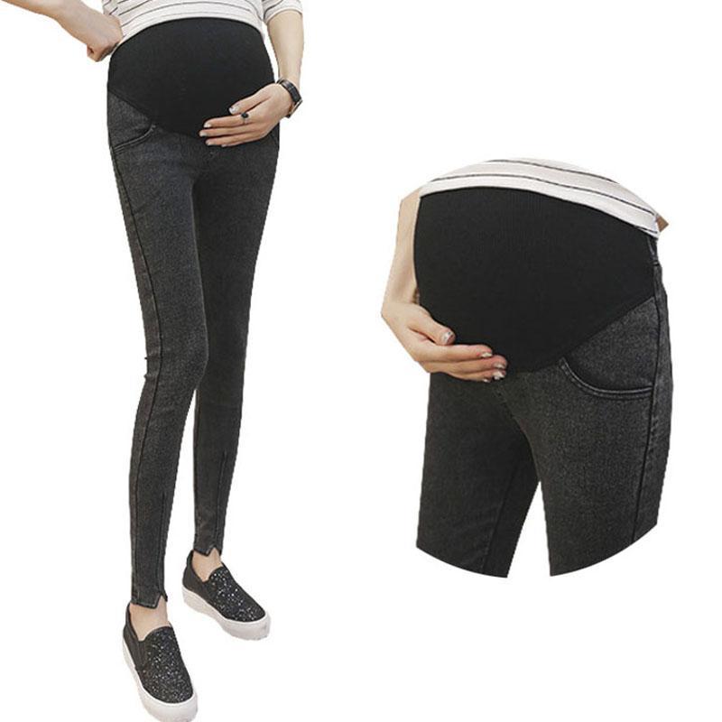 244d43023cfb0e Abdominal Trousers For Pregnant Women Clothes Maternity Pants Denim Jeans Pregnancy  Leggings Strench Ropa Premama Gravida Wear Jeans Pregnancy for Pregnant ...