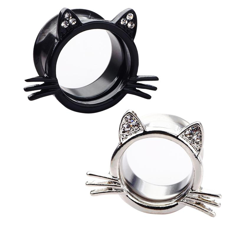 8423c6d17 2019 Ear Gauges Hello Kitty Ear Plugs Ear Tunnels Body Jewelry Stretchers  Stainless Steel Size 6 20mm Big Earring From Perla15, $24.33 | DHgate.Com