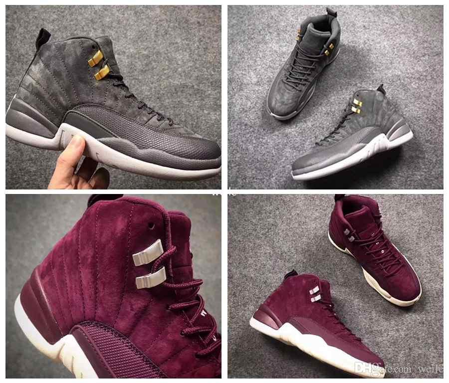 12 Bordeaux Men Basketball Shoes 12s Wine Red Purple Midnight Dark ... ba2322ee7