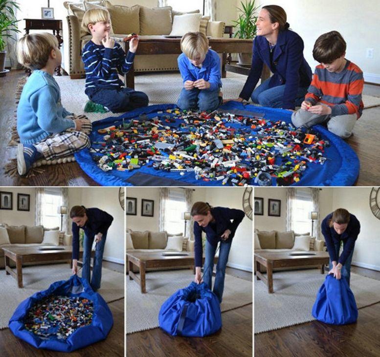ребенок играть коврик игрушка мешка хранения портативных игрушек хранение сумки Одеяло диаметр Ковер коробка Игрушка Организатор Открытого Пикник 150см 100шт