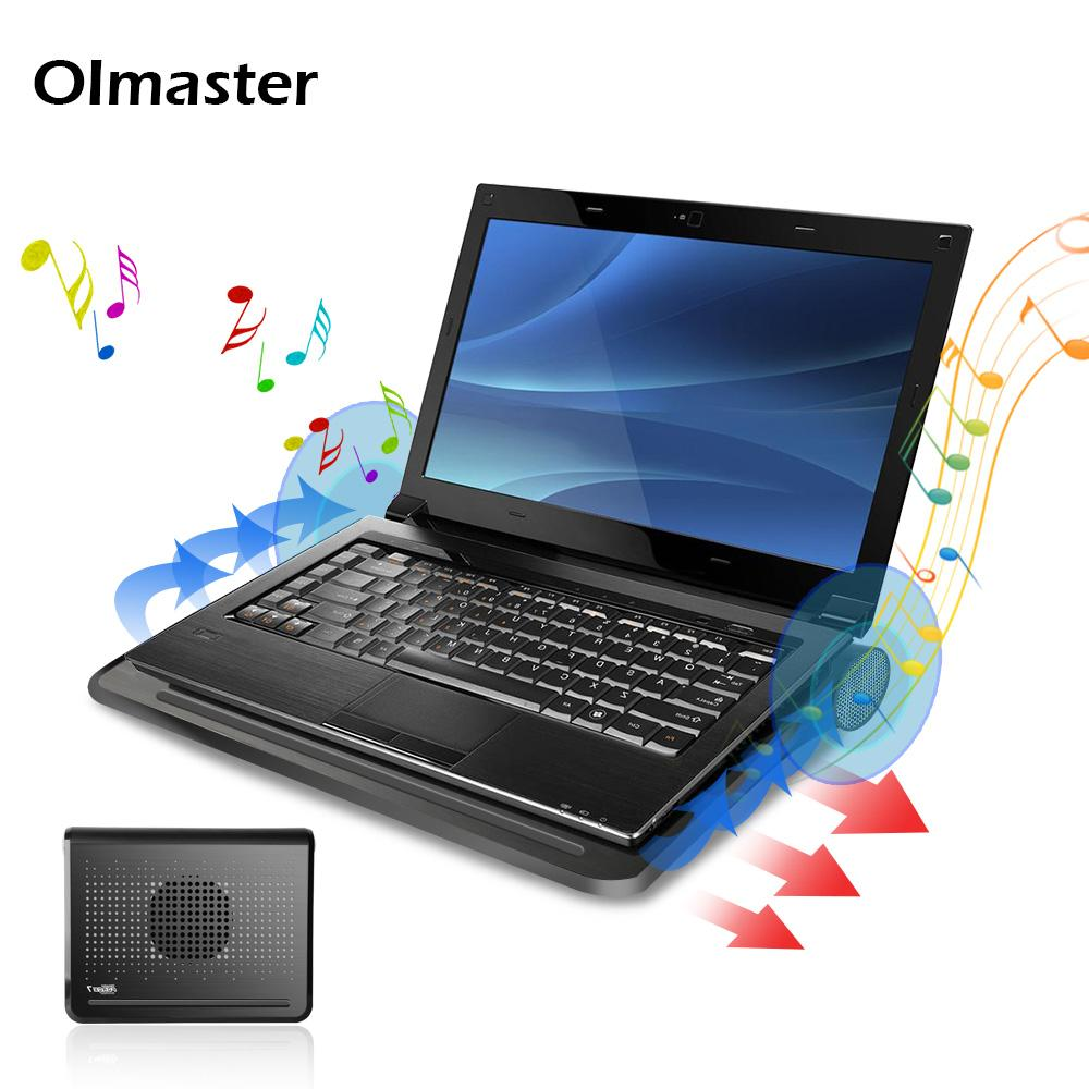 5ba887095979 Oimaster 12-16 inch laptop Cooling Pad with Stereo Dual Speaker Laptop  cooler USB Silent Fan Notebook Cooler Stand for