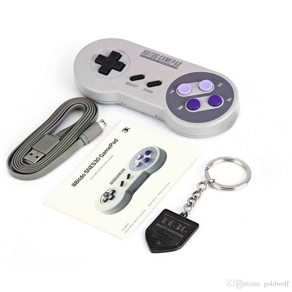 Free DHL 8Bitdo SNES30 Wireless Bluetooth Gamepad Pro Game Controller for iOS Android Gamepad PC Mac Linux Retro Design 01