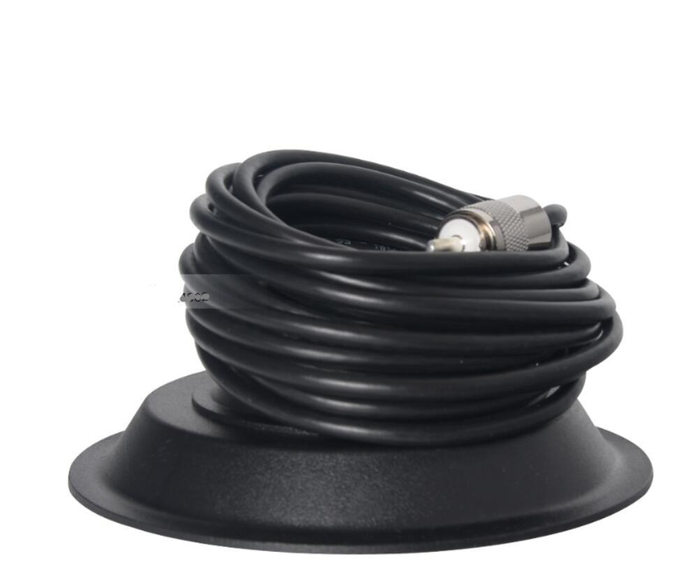 nmo magnetic roof mount base Car mobile transceiver Accessories 5M feeder cable 11cm magnet PL259 port Magnetic Antenna